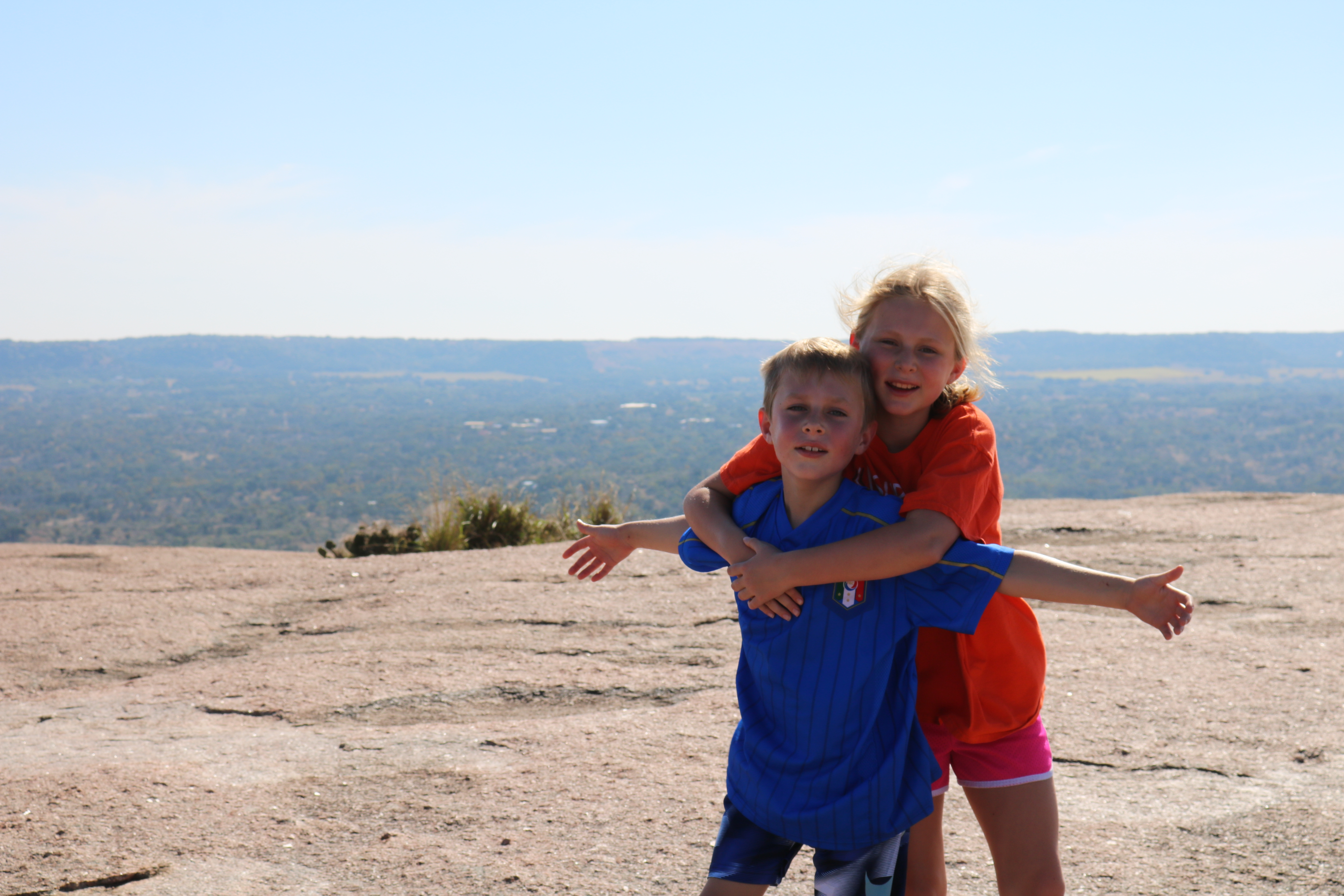 View from the top of Enchanted Rock.