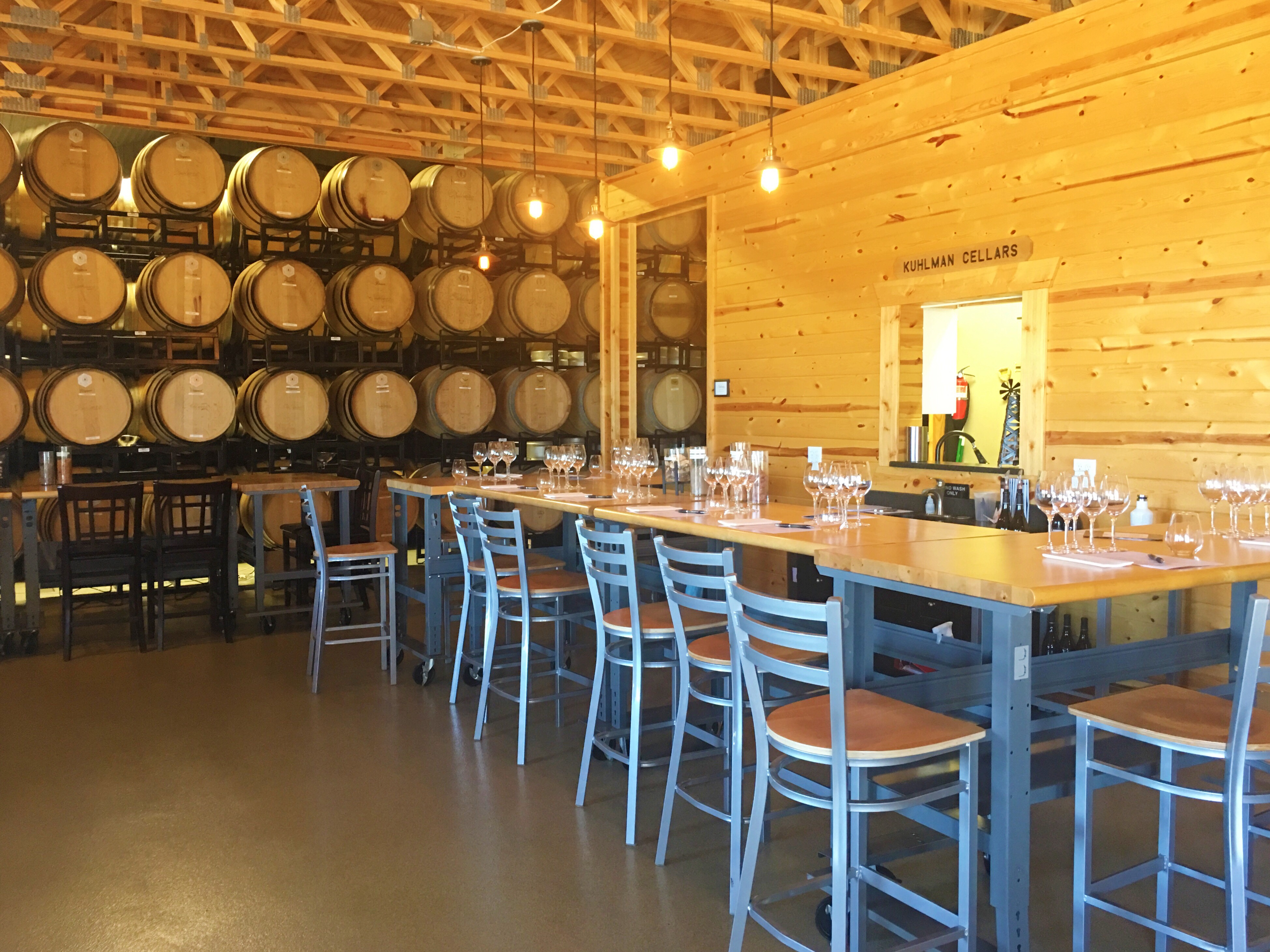 Kuhlman Cellars wine tasting room